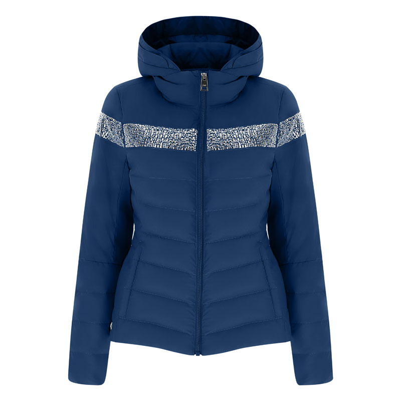 Vist Caterina Chic Down Jacket Deep Ocean Silver